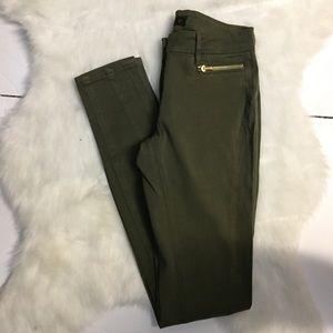 3x1 Green Skinny Pants Sz 24